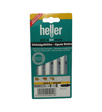 Heller T119B HCS Wood Jigsaw Blades - 5 Pack - High Quality German Cutting Tools