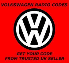 VW Volkswagen Radio CODE entsperren Stereo Codes | RCD 310 300 200 210 RNS 315