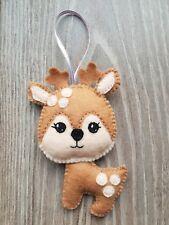 Handmade christmas tree decorations cute reindeer