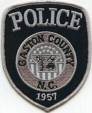 GASTON COUNTY NORTH CAROLINA NC subdued POLICE PATCH