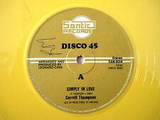 """Carrol Thompson simplemente en el amor Amarillo UK 12"""" Santic 1981"""