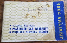 Original 1964 Plymouth Valiant Owner's Car Care Record Service Manual Warranty