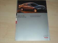 39519) Audi A4 1.9 TDI 110PS Prospekt 08/1995