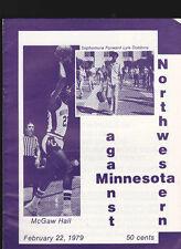 Minnesota v Northwestern NCAA basketball program February 22 1979