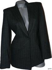 NWT ALBERTA FERRETTI  4 luxe designer blazer jacket pinstriped $5,000 runway