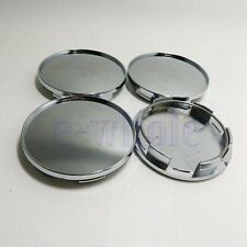 4 X 68mm Universal Chrome Silver Car Wheel Center Hub Caps Covers Set No Logo TW