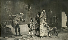 DEERHOUND SCOTTISH DOG ANTIQUE ART PRINT ENGRAVING - 1876 - The Ancestor