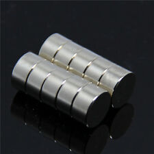 Set Of 2 Pieces of 10mm x 5mm Round Strong Rare Earth Neodymium Magnets N52
