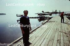 35mm Ektachrome  Slide 3 Water Planes At Dockside/ Wilderness 1977