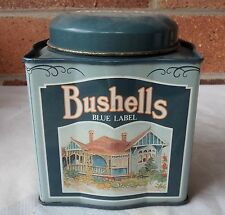 BUSHELLS BLUE LABEL TEA TIN  COUNTRY BUILDINGS HOTEL