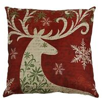 Get Christmas Reindeer Elk Pillow Case 18 X 18inch Cushion Cover Home Decor