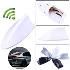 White Car Auto Shark Fin Roof Antenna Radio FM/AM Aerial Mast For VW Ford BMW VW