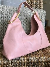 FURLA ITALY Amazing Peach Pink Pebbled Leather Unique Hobo Shoulder Bag GREAT