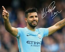 SERGIO AGUERO #3 - MANCHESTER CITY 10x8 PRE PRINTED LAB QUALITY PHOTO - Free Del