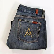 7 Seven For All Mankind Jeans A Pocket Women Low Rise Dark Wash Size 27 Made USA