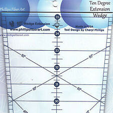 """Phillips 10 DEGREE EXTENSION WEDGE Quilt Ruler Add-On for 70"""" Diameter Circle"""