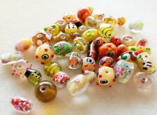Handmade Lamp-work Bead Mix - 100gms - Asst Shapes, sizes & finishes - Earth Mix