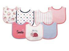 Luvable Friends Baby Boy and Girl Drooler Bib with Peva Back, 7-Pack - Ladybug