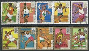 403 - Burundi - Olympic Games Mexico - Used Set