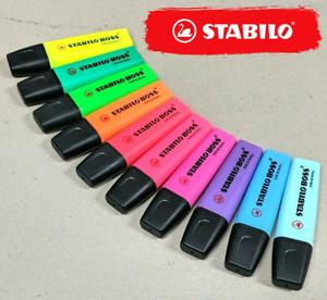 STABILO Boss Original Single Highlighter Multiple Colour Refillable