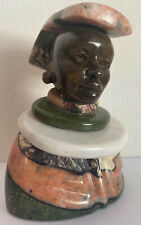 Rare Multi Stone Sculpture Verdite Ntwana Woman Numbered Signed Paul Kgaile