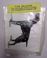 Vintage Nos German Wirehaired Pointer Car Sticker Decals Walnut Miniatures dog