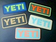 YETI Coolers Official Merchandise Decals Stickers Bundle of 5 Multi-Color NEW