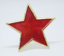 Vintage Soviet red star pin from military hat, Badge Pin, Cold War Pin USSR