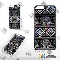AZTEC GEOMETRIC ELEPHANT Mandala Henna Cute Animal For 5s 6s 7s Phone Case Cover