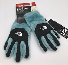 The North Face Girls Osito Etip Windmill Blue Gloves Size Small NWT