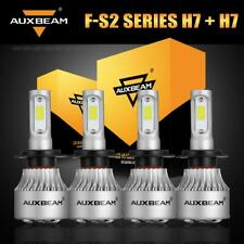 4x AUXBEAM Combo H7 LED Headlight Bulb High Low Beam Conversion Kit 6500K 8000LM