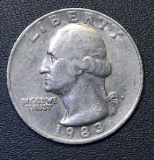1983-P Washington Quarter (Circulated) Free Shipping Satisfaction Guaranteed!