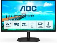 """AOC MONITOR FULL HD 27"""" IPS LED ADAPTIVE SYNC 27B2DA FHD 1080p HDMI VGA NERO"""