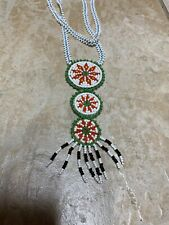 Beaded Necklace Native American Long