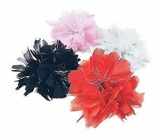 Bristol Novelty Ba760a Hair Clip Red Feather and Tinsel One Size