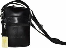 New Leather Men's handbag, Shoulder bag Black handbag Unbranded leather bag BNWT
