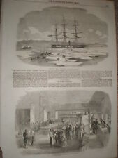 HMS Archer in the ice at Wingo Bay and Soyer's kitchen Scutari 1855 old prints