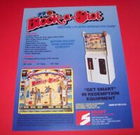 Smart PRO BLOCK A SHOT Basketball Original NOS Redemption Arcade Game Flyer