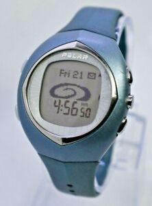 Polar F11 Light Blue Digital LCD Fitness Training Sport Watch, Runs - WATCH ONLY