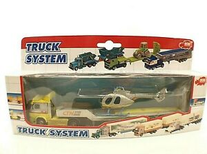 Dickie  n° 341 5225 camion transport hélicoptère neuf mint boxed/boite 23,5 cm