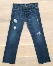7 for all mankind seven  Jared Slaker Boyfriend Jeans Hose Denim 29 blau