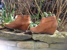 Varese Stiefeletten Sneaker Boots 6 39 Wildleder Camel Natur Beige Keil Herbst