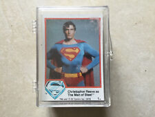Superman The Movie Complate Base Set Of 66 Trading Cards Series 1 - 1978