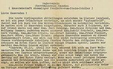 Feldpostbrief der Kameradschaft ehemaliger Freiherr-vom-Stein-Schüler (1942)