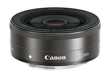 Canon M EF-M 22mm F/2 STM Wide Angel Pancake LENS -Black (Bulk Package)