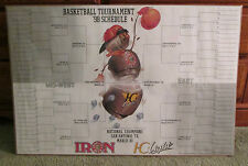 RARE 1998 NCAA MARCH MADNESS BRACKET POSTER SHRINK WRAPPED MAN CAVE