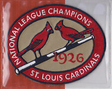 1926 ST. LOUIS CARDINALS NL CHAMPS OFFICIAL MLB BASEBALL PATCH WILLABEE WARD