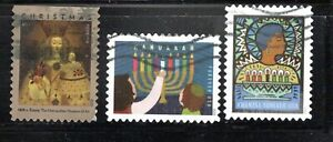 2020 Sc #5525, #5530-31 Forever Lady of Guapulo, Hanukkah & Kwanzaa 3 Canceled
