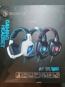 SADES BLUE Gaming Headset Noise Cancelling Headphones Mic for PS4 Xbox One PC