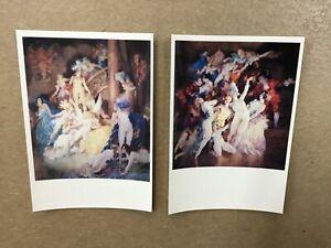 Norman Lindsay - postcard pair  'revel' x1 & 'eros' x1